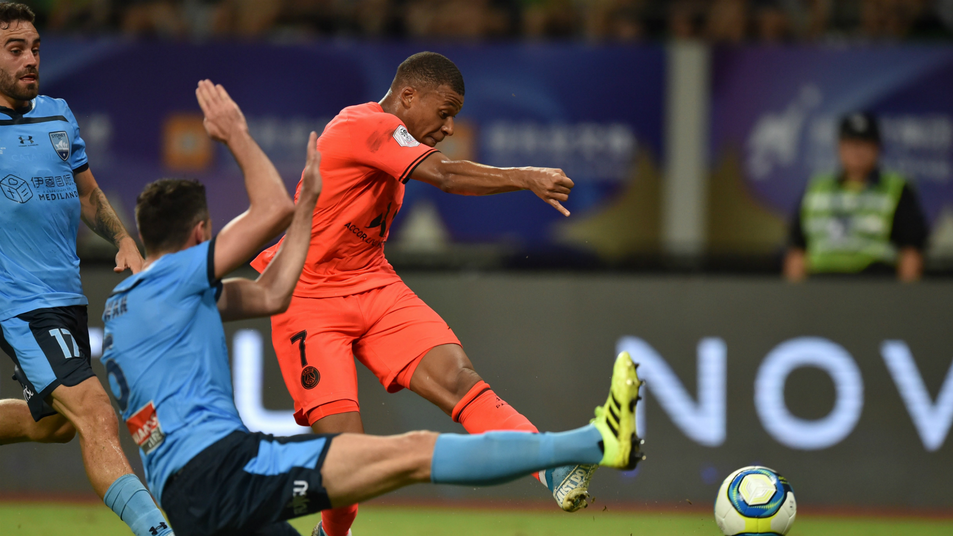 Paris Saint-Germain 3 Sydney FC 0: Mbappe, Cavani on target on hot China night