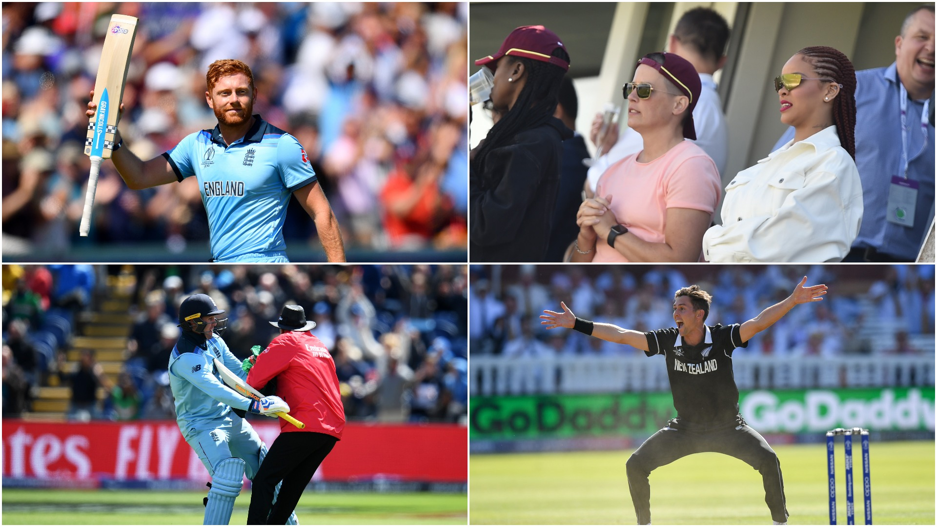 Rihanna, bees and a comedy collision - the best moments of the Cricket World Cup group stage