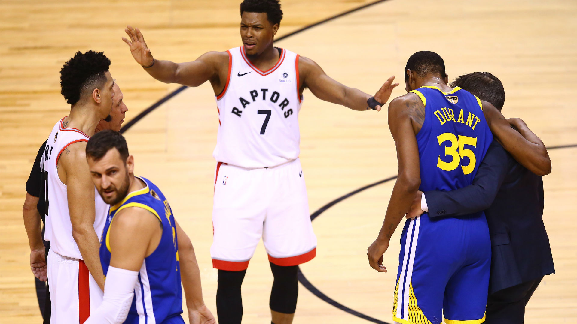 Lowry unimpressed with reaction to Durant injury