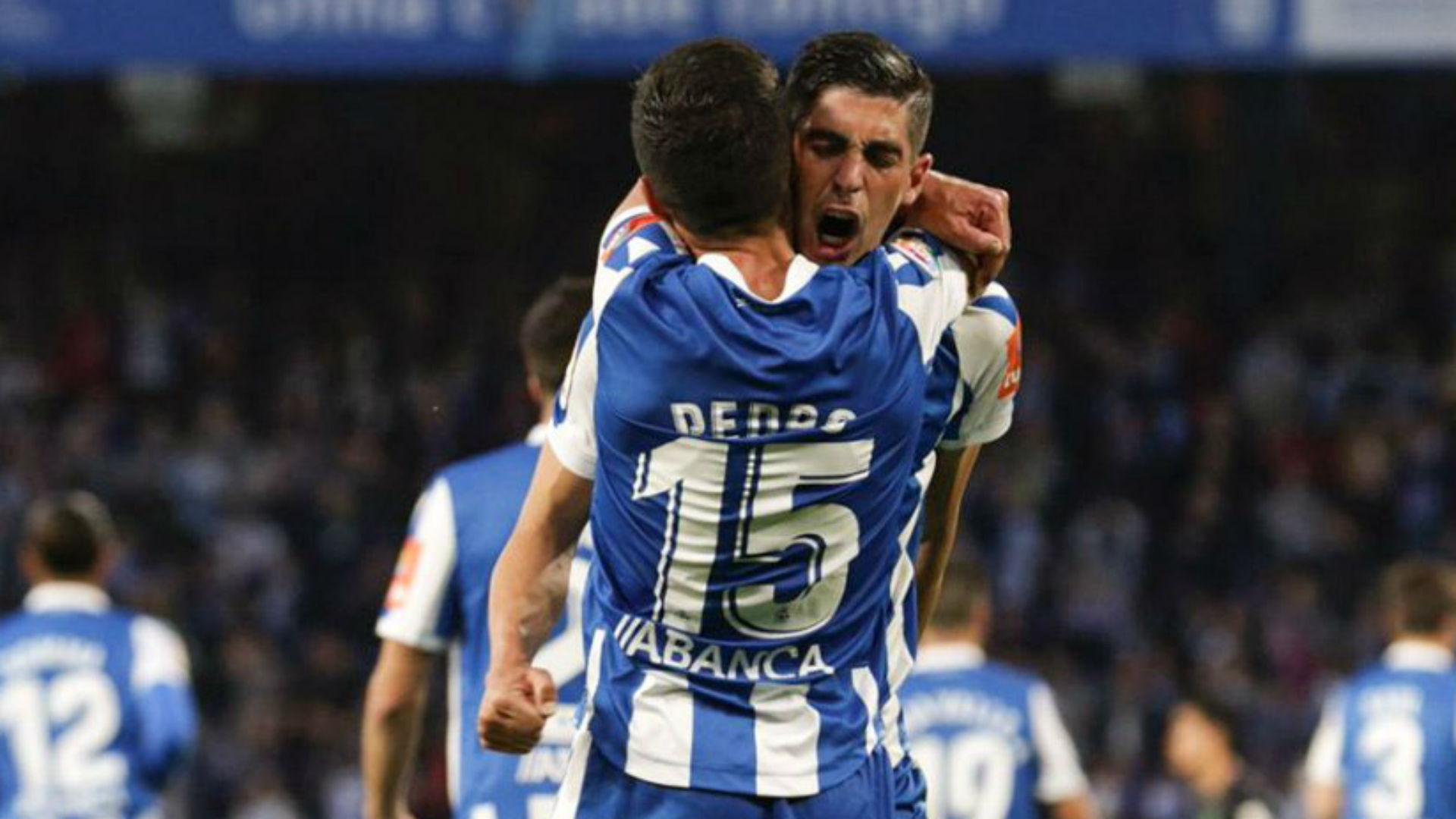 Deportivo La Coruna 4 Malaga 2: Fernandez brace puts Depor on brink of play-off final