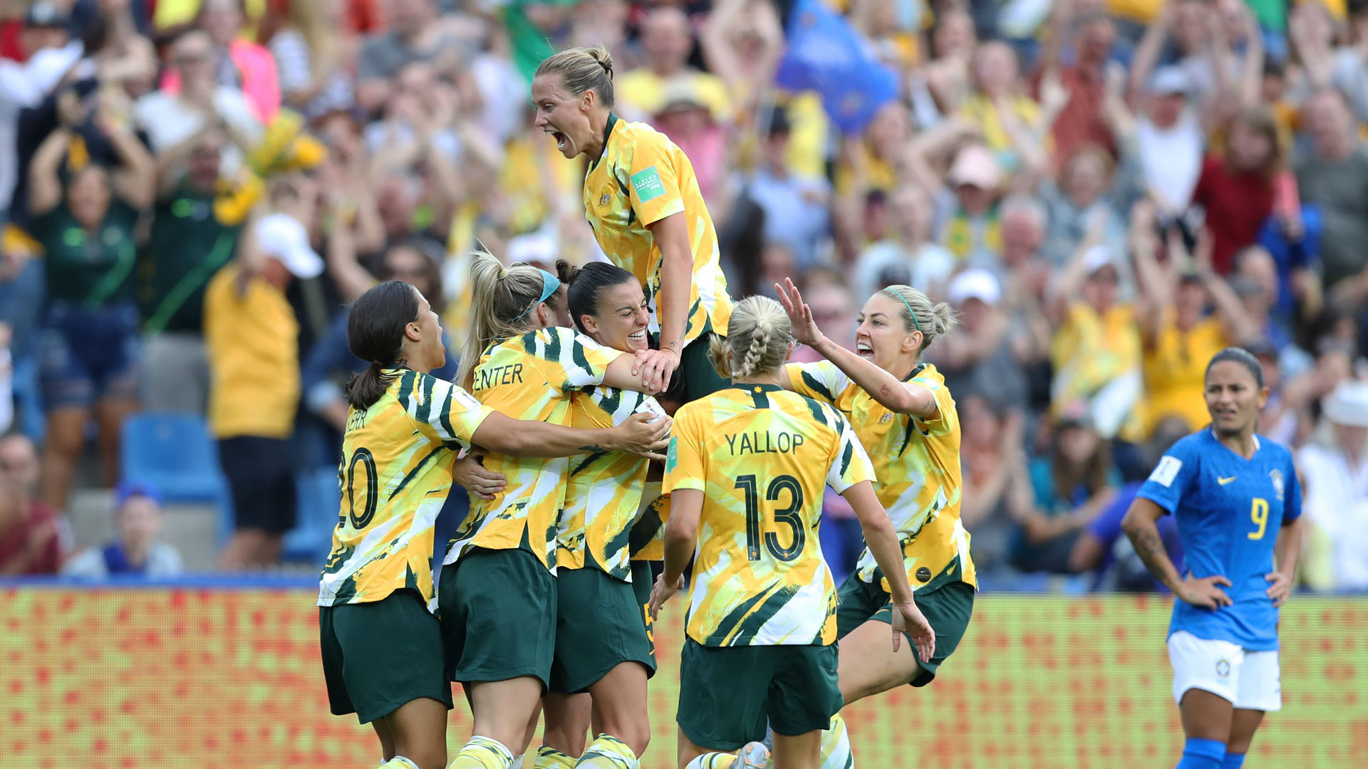 Women's World Cup 2019: Australia roars back from 2-0 deficit to stun Brazil