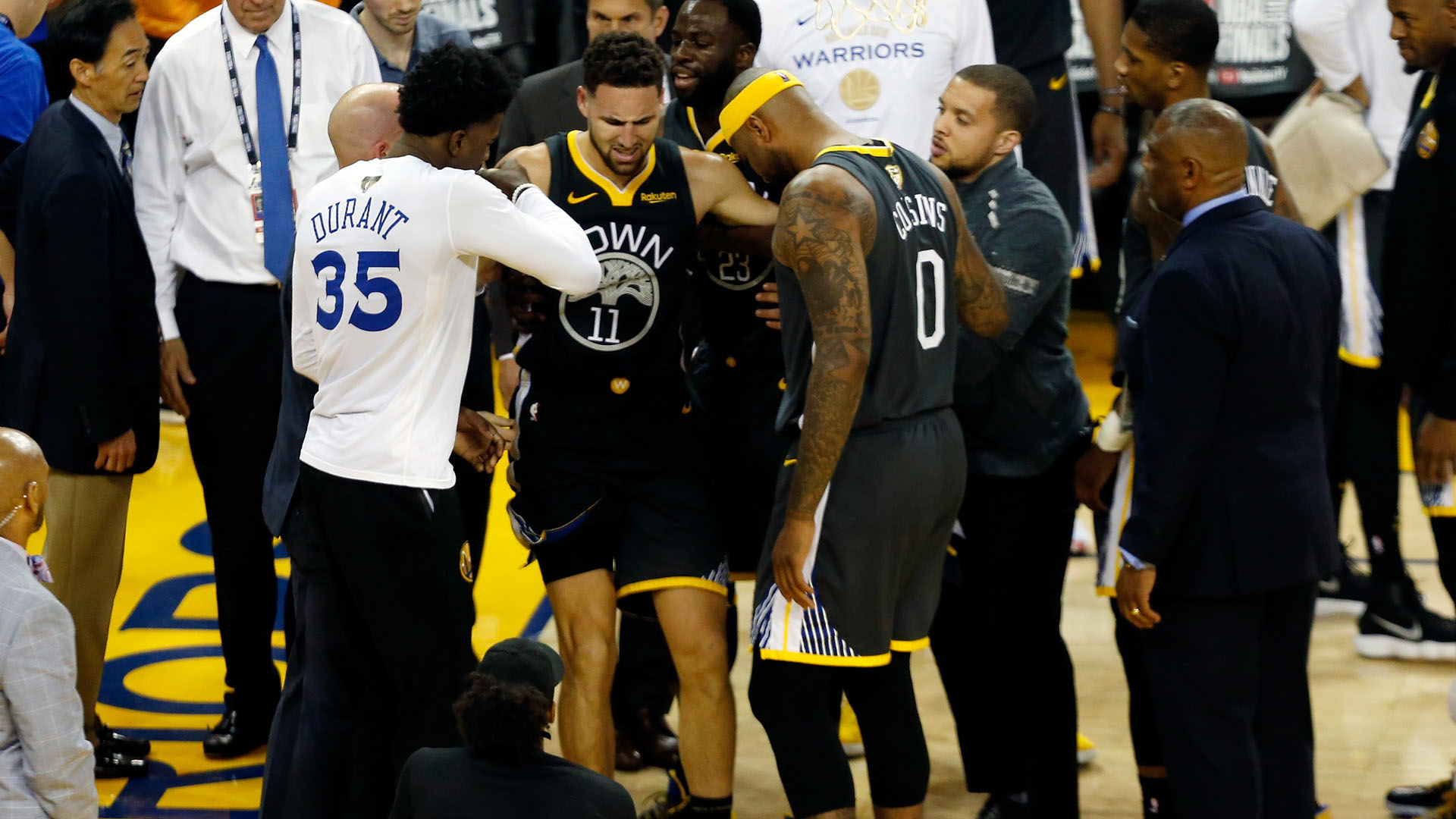 Thompson out of Game 6 due to knee injury