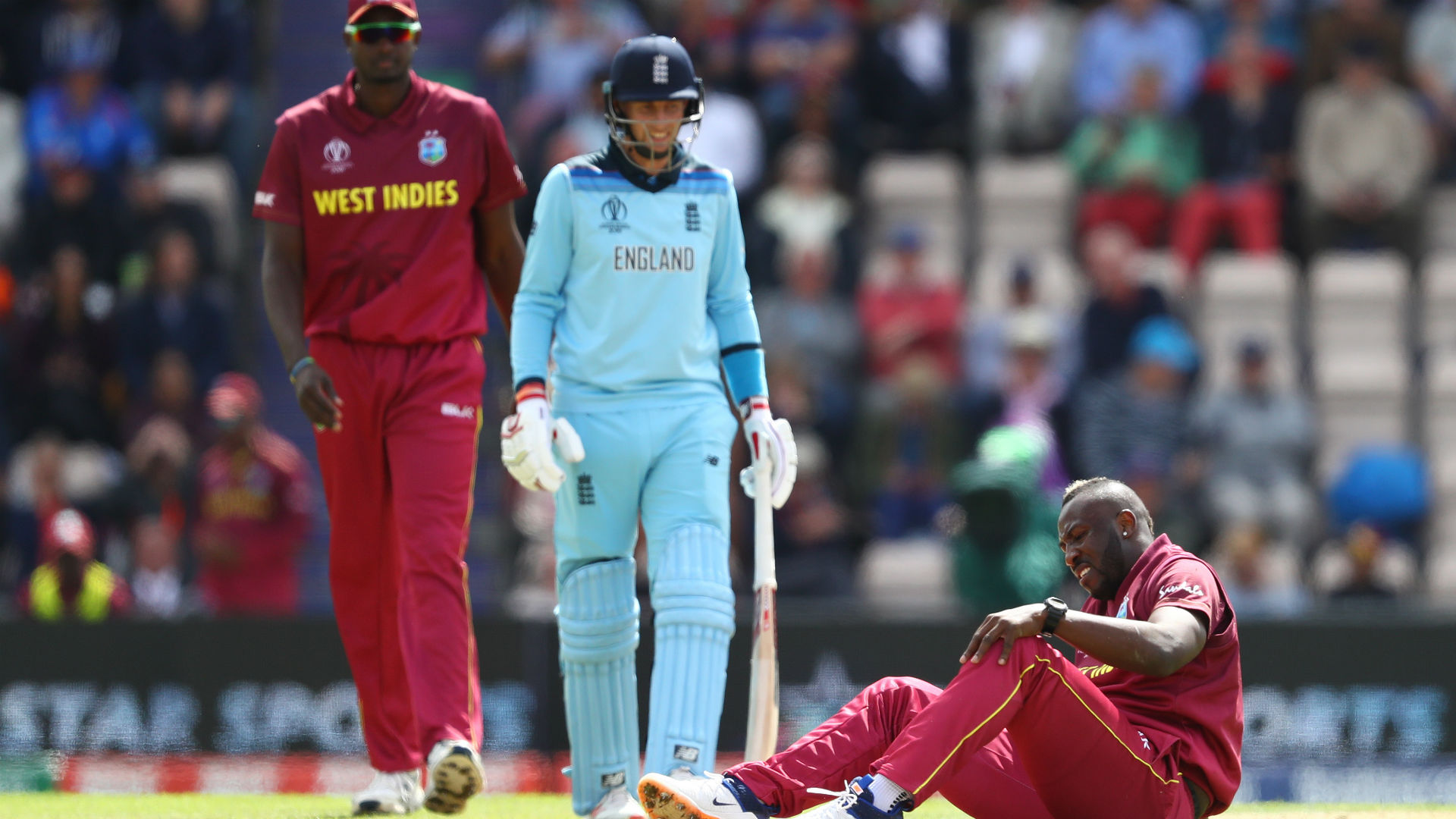 Windies lose Russell during England run chase