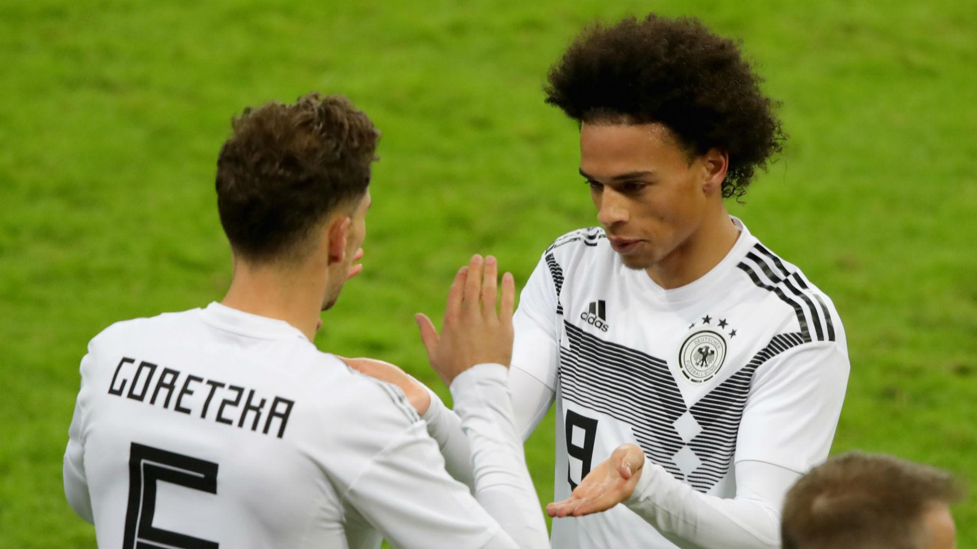 Goretzka would be 'ecstatic' if Sane joined Bayern