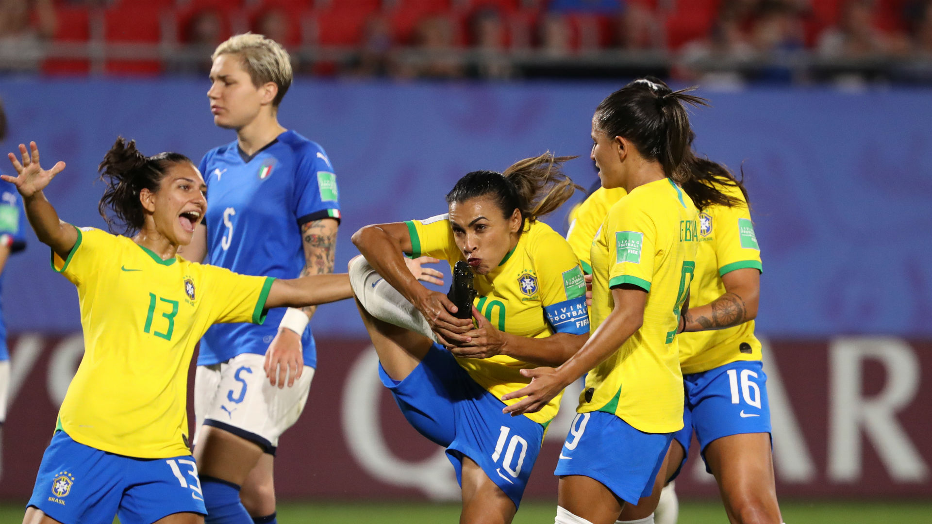 Marta makes World Cup history with record 17th goal