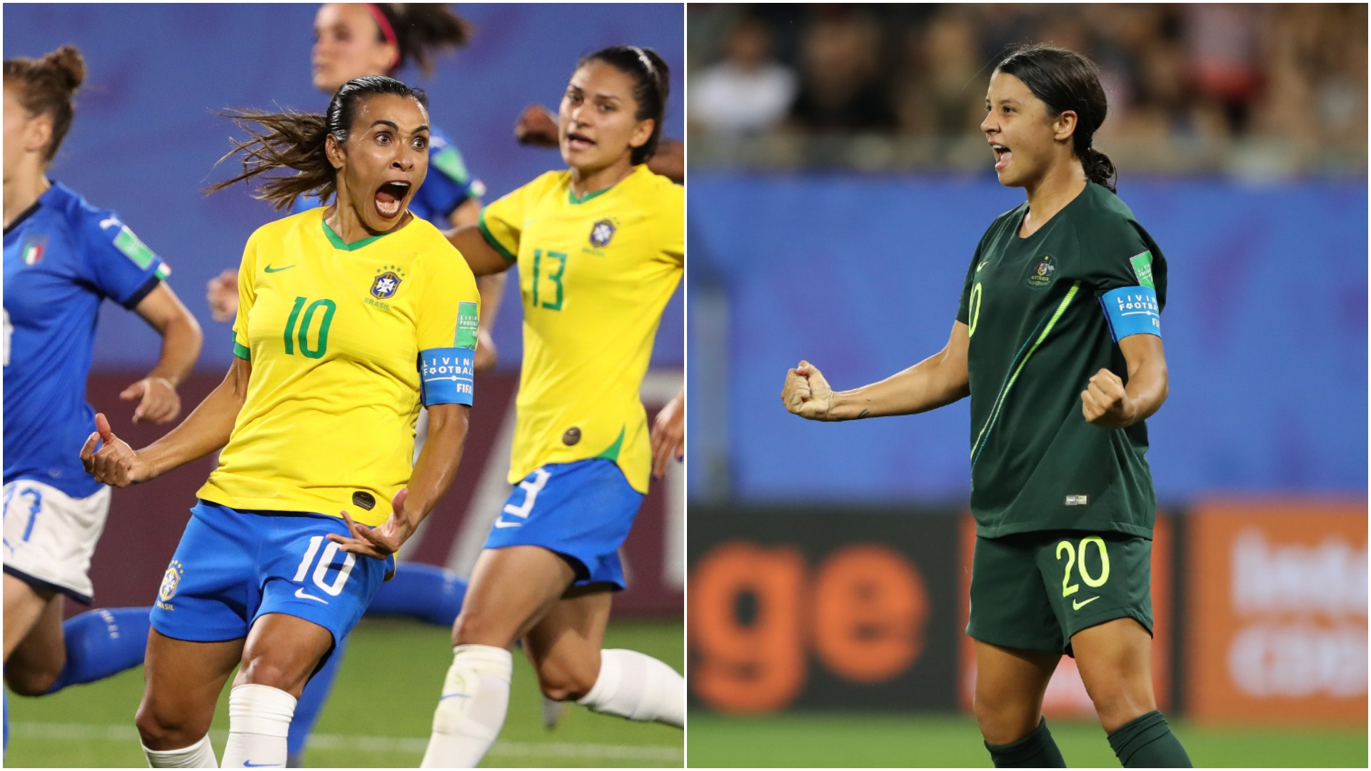 Women's World Cup: Marta makes history, Kerr-inspired Australia cruise
