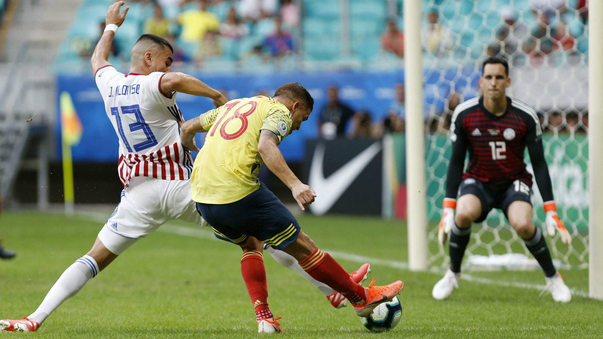 Colombia 1 Paraguay 0: Cuellar strike seals Copa America win for fringe stars
