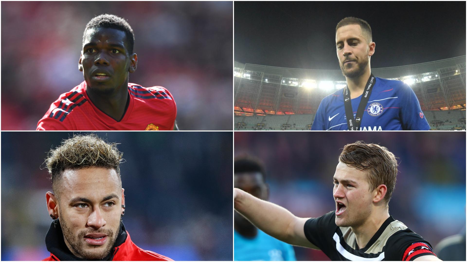 Hazard, De Ligt, Pogba, Mbappe and Neymar - the close-season's top transfer sagas