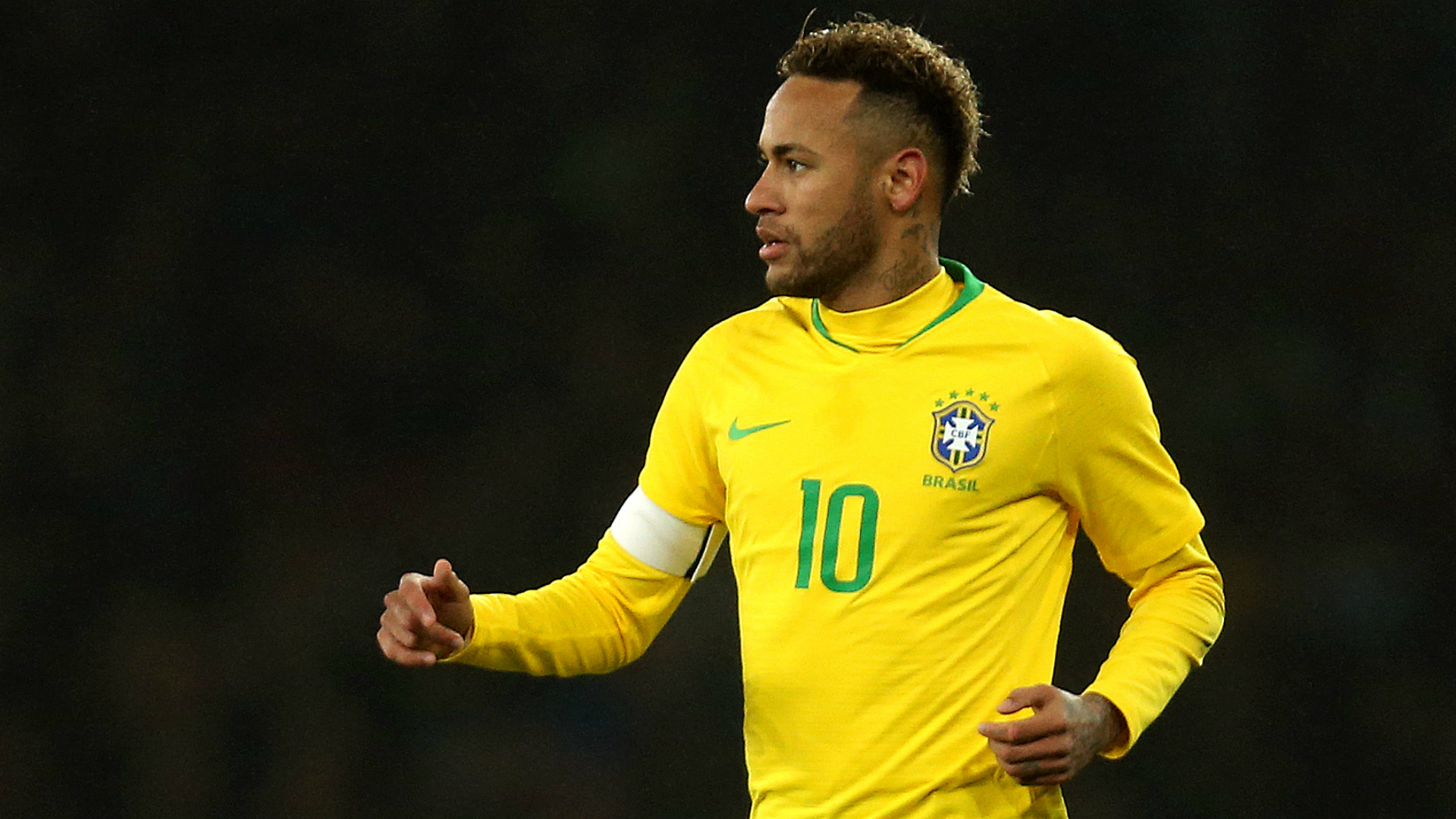 Tearful Neymar carried off with lower leg injury
