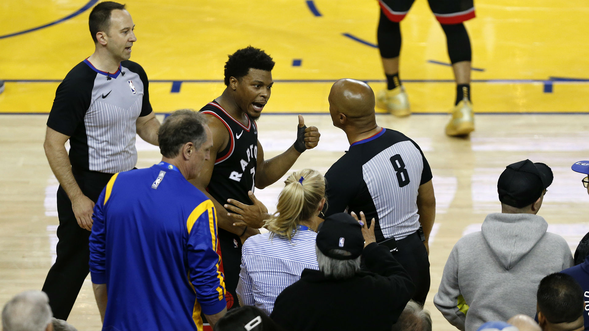 Warriors' Stevens banned for one year, fined $500k after shoving Lowry