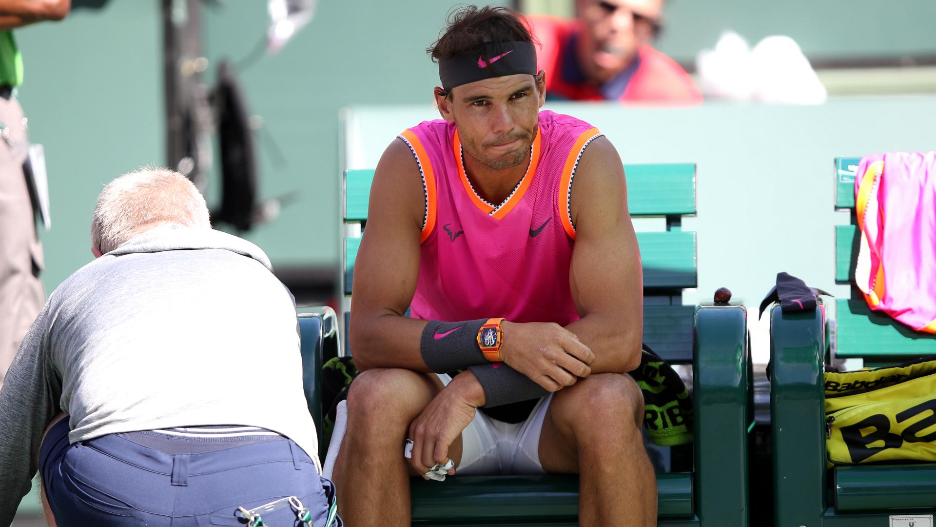 Nadal worried about knee ahead of Federer showdown