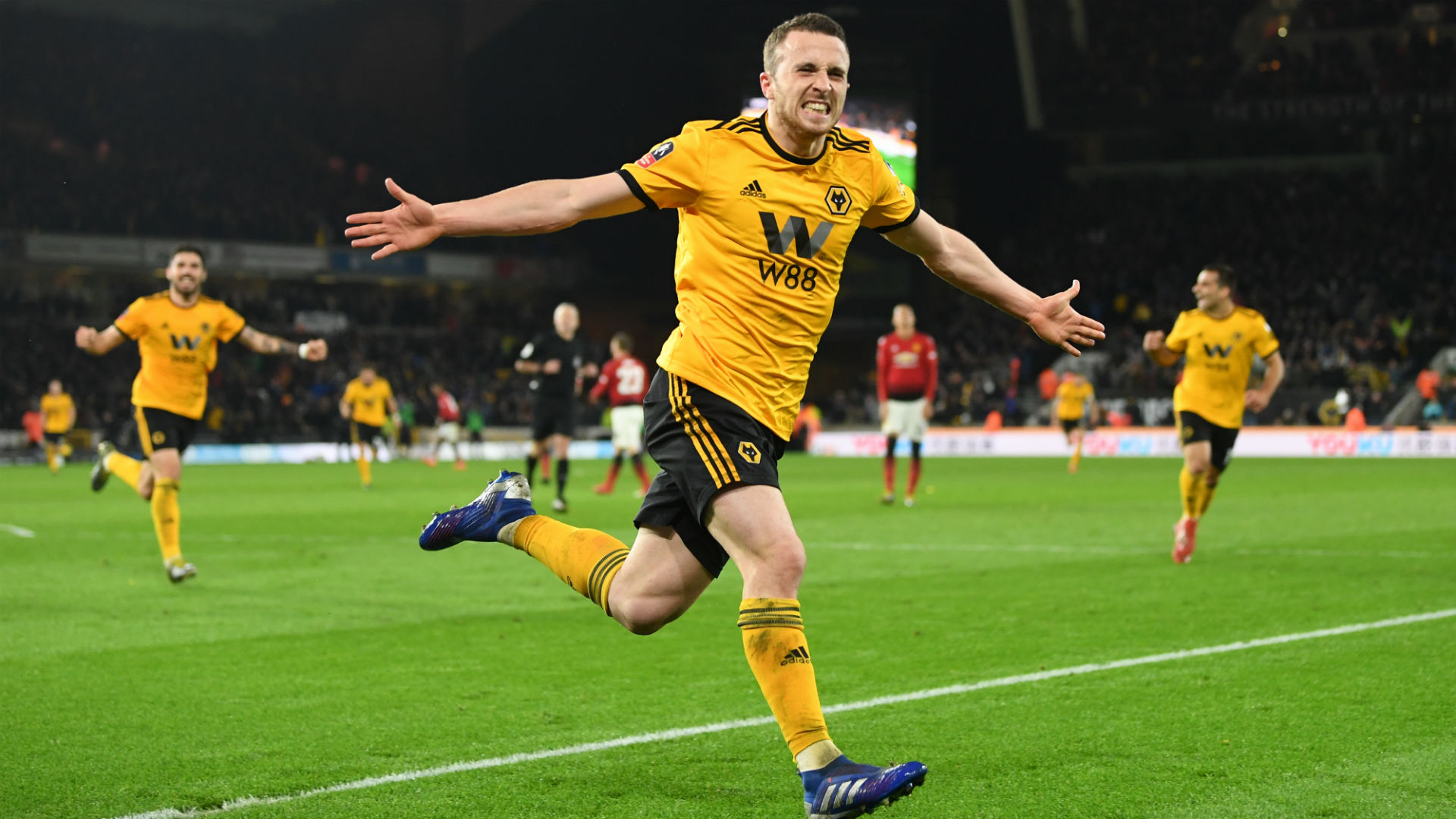 Wolves 2 Manchester United 1: Jimenez and Jota seal last-four spot
