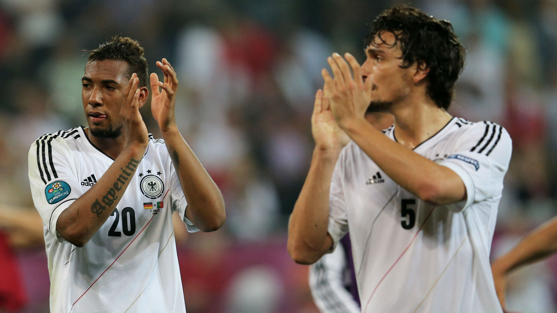 Germany fans pay tribute to axed trio Hummels, Muller and Boateng
