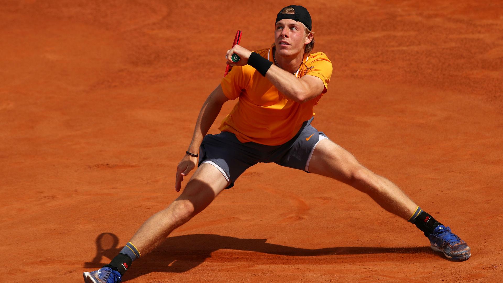 Shapovalov to face Djokovic in Rome, misery for Monfils