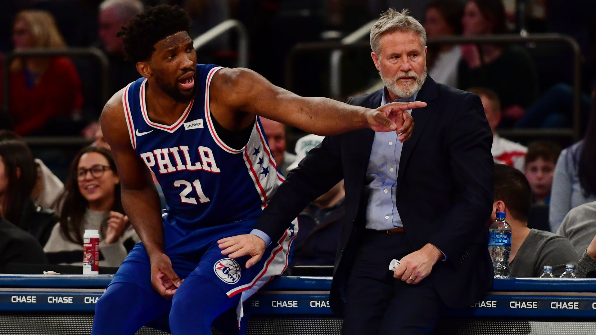 'Bull****' – Embiid responds to rumours over Brown's future