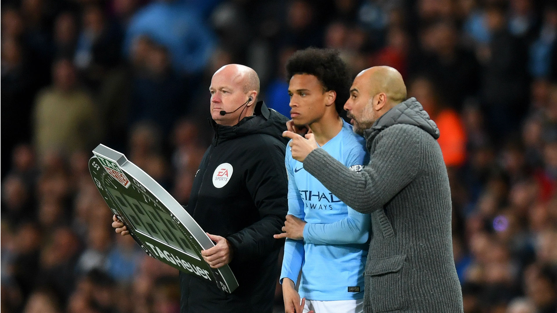 Guardiola eager for Sane to stay at Manchester City