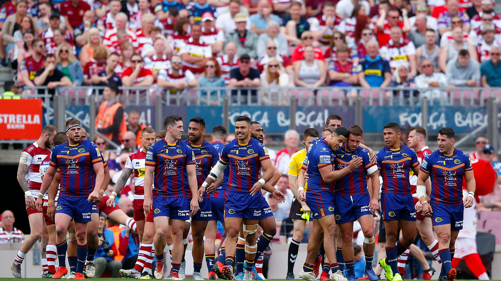 Catalans crush Warriors at Camp Nou in front of record crowd