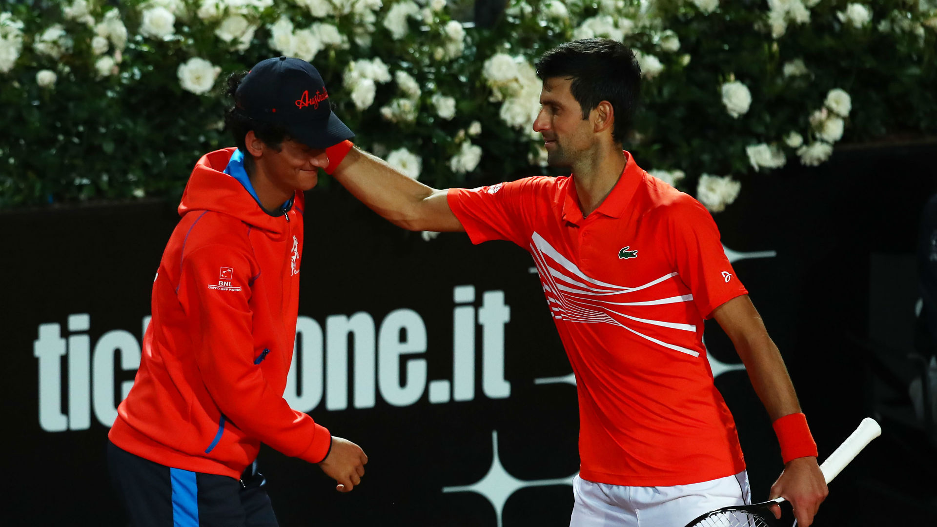 Ouch! Djokovic embarrassed after accidentally hitting ball boy