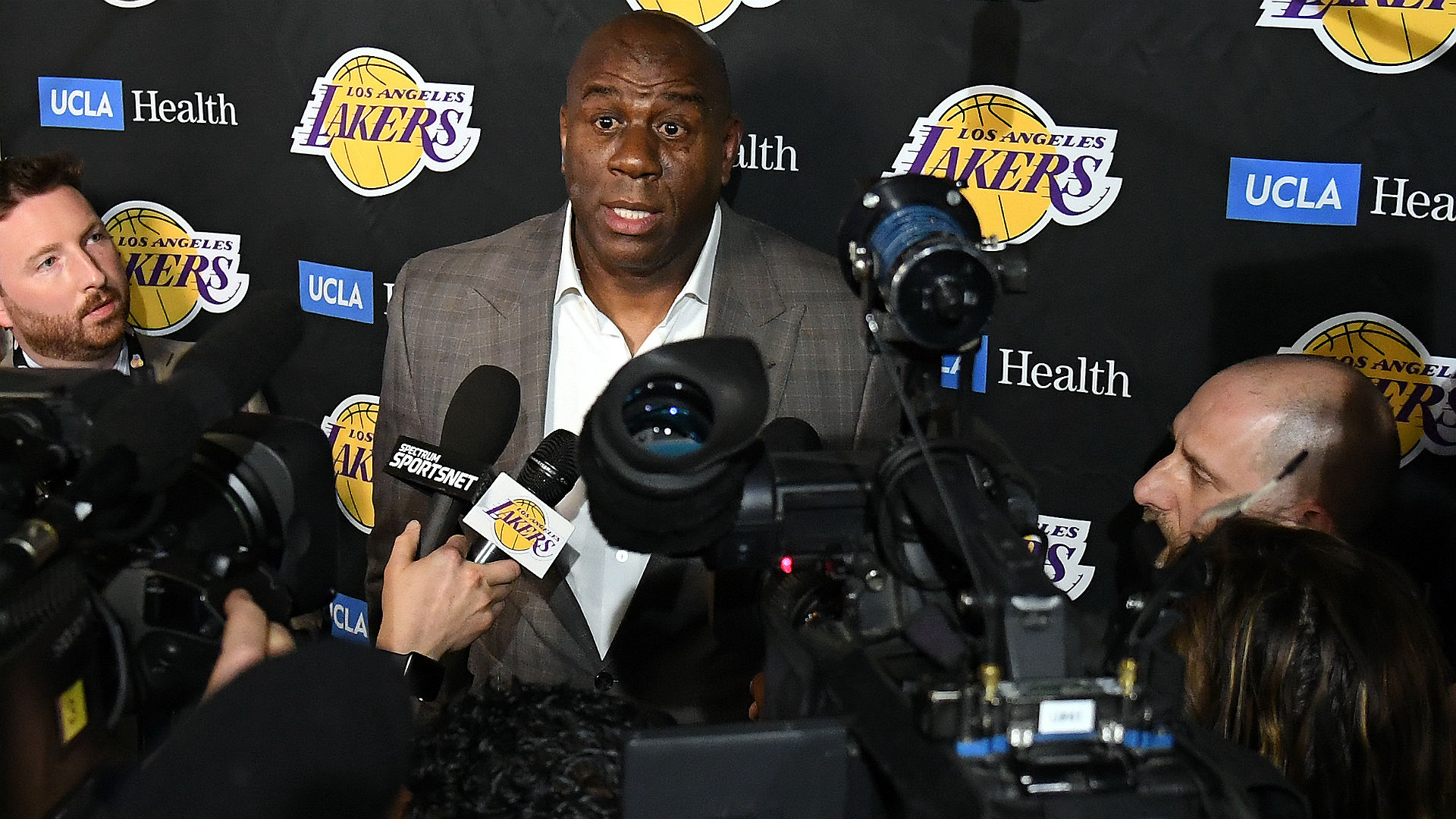 Magic Johnson points finger at Pelinka after Lakers power struggle