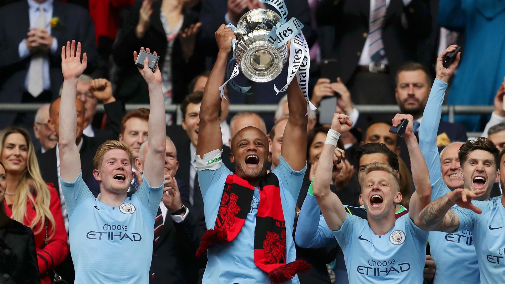I love you, I'm out - Departing Kompany has his mic-drop moment in City's trophy parade