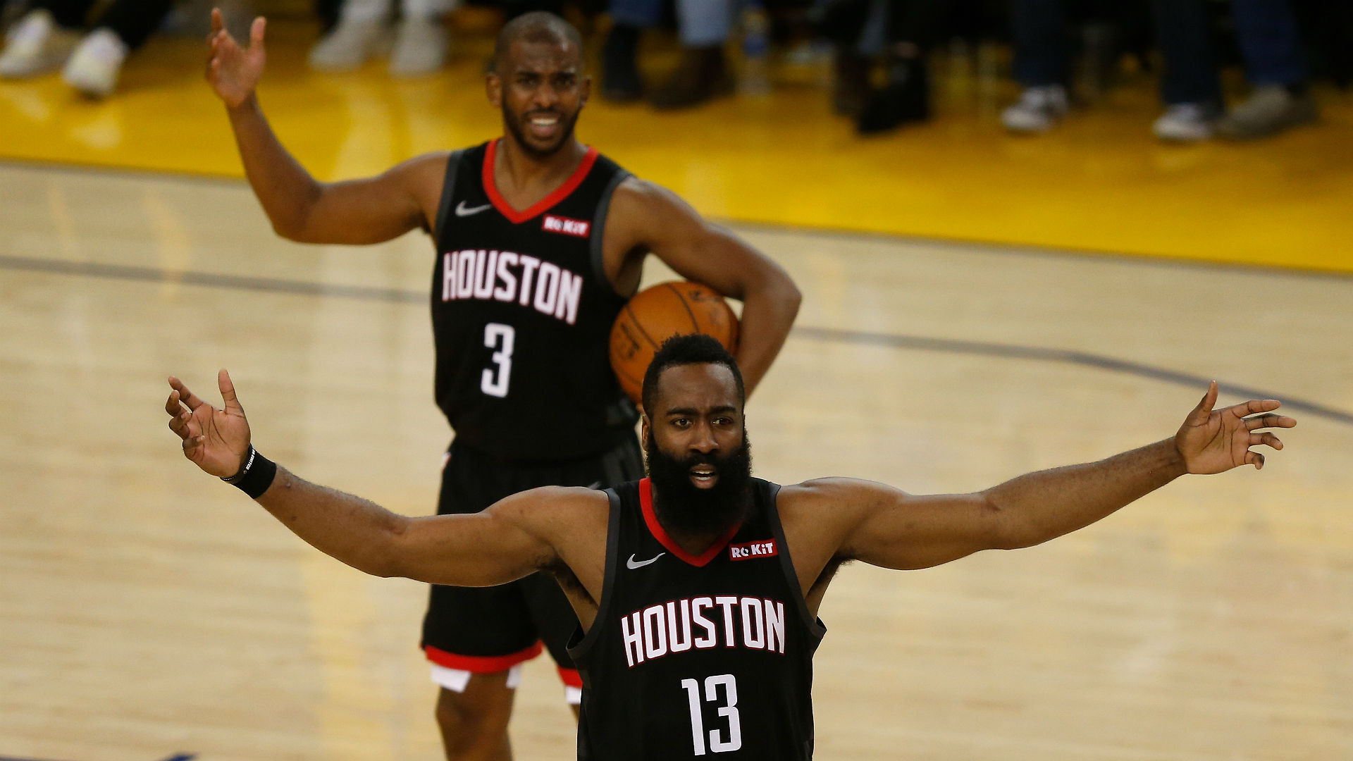 Harden, Paul had 'verbal exchange' after Rockets Game 6 loss to Warriors