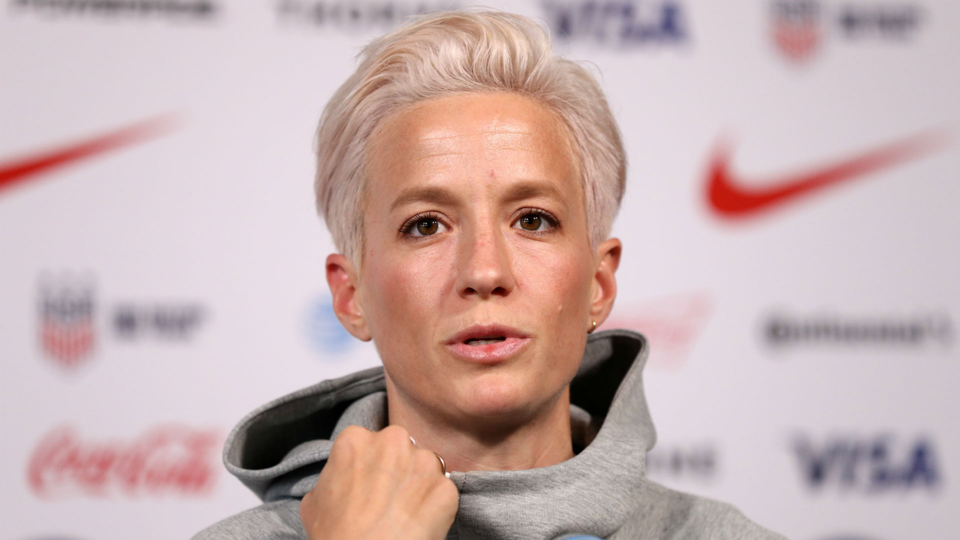 Megan Rapinoe uses World Cup platform to promote equality in women's sports