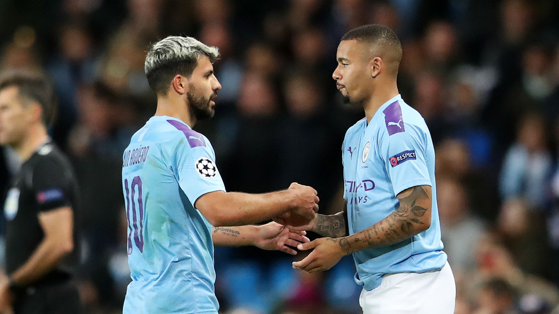 Jesus happy to play wide for Man City as he learns from clinical Aguero