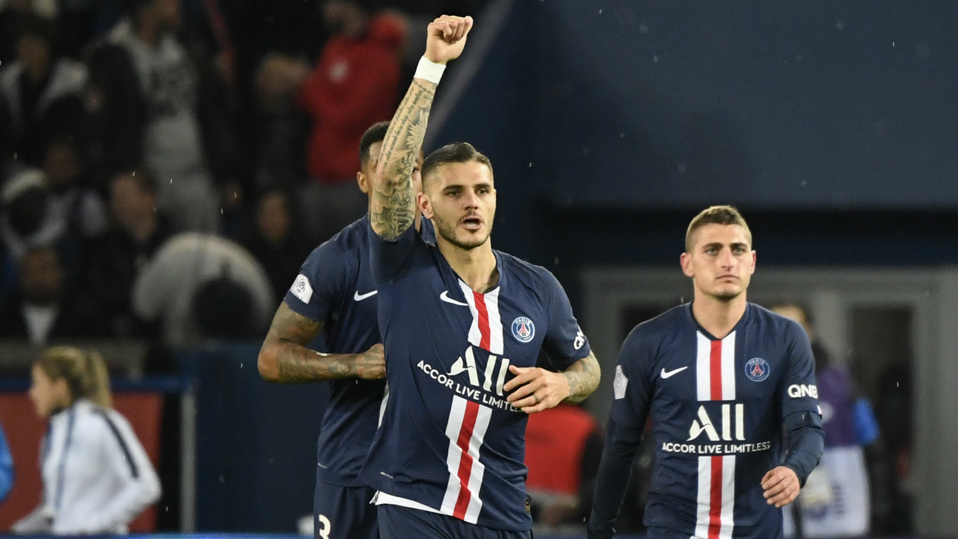 Brest 1-2 Paris Saint-Germain: Substitute Icardi strikes late for Ligue 1 champions