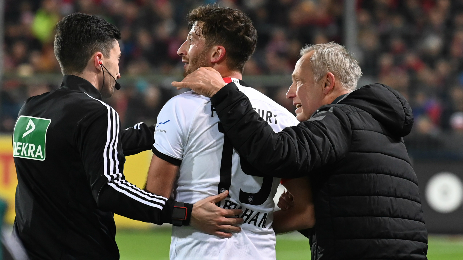 Bobic disapproves of Abraham's actions after Eintracht captain charges over Freiburg coach