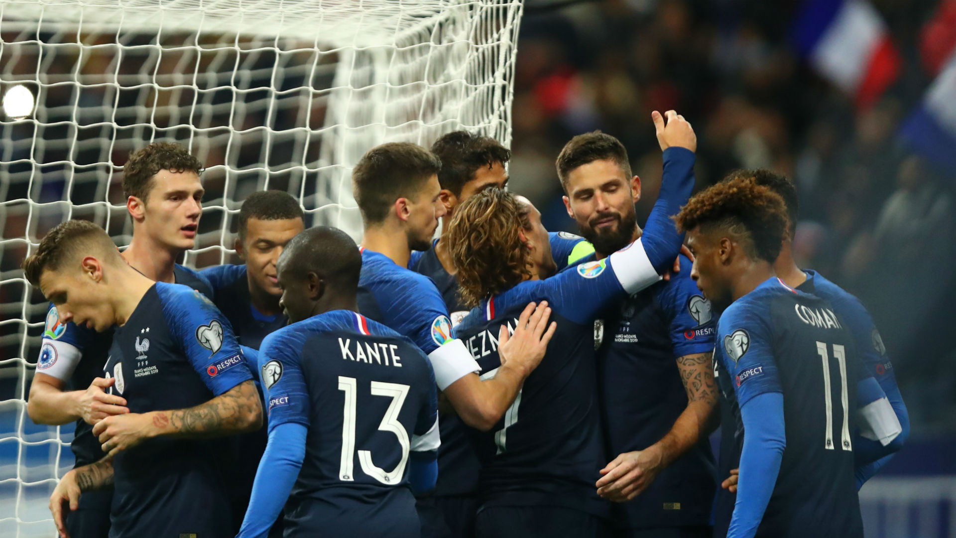 Giroud and Griezmann put France victory down to Deschamps' half-time team talk