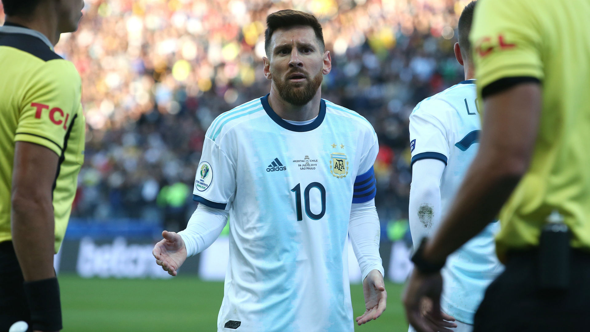 Lionel Messi straight back into Argentina line-up against Brazil after ban