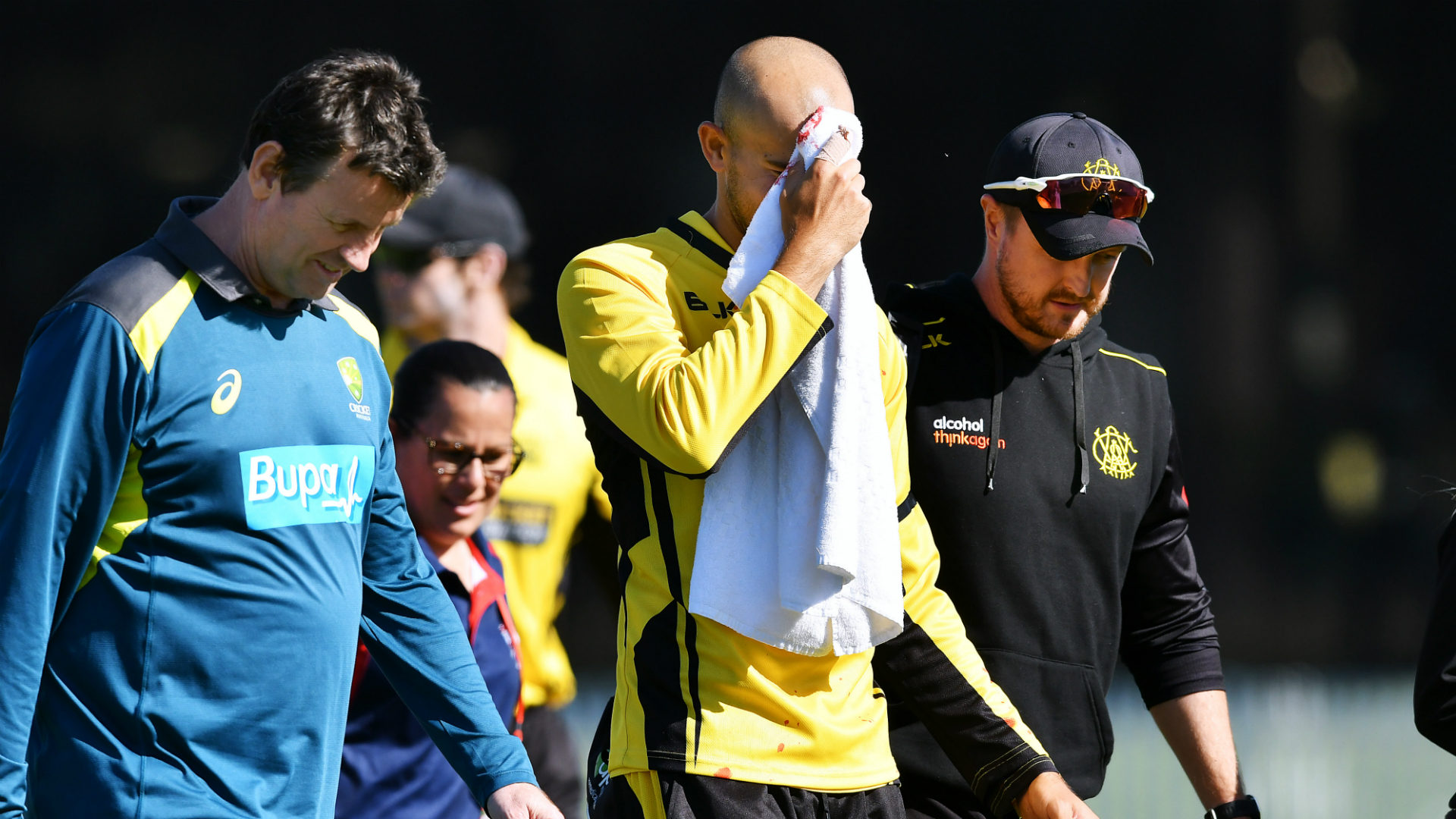Oh, brother! – Australia international Agar hurt after dropping sibling