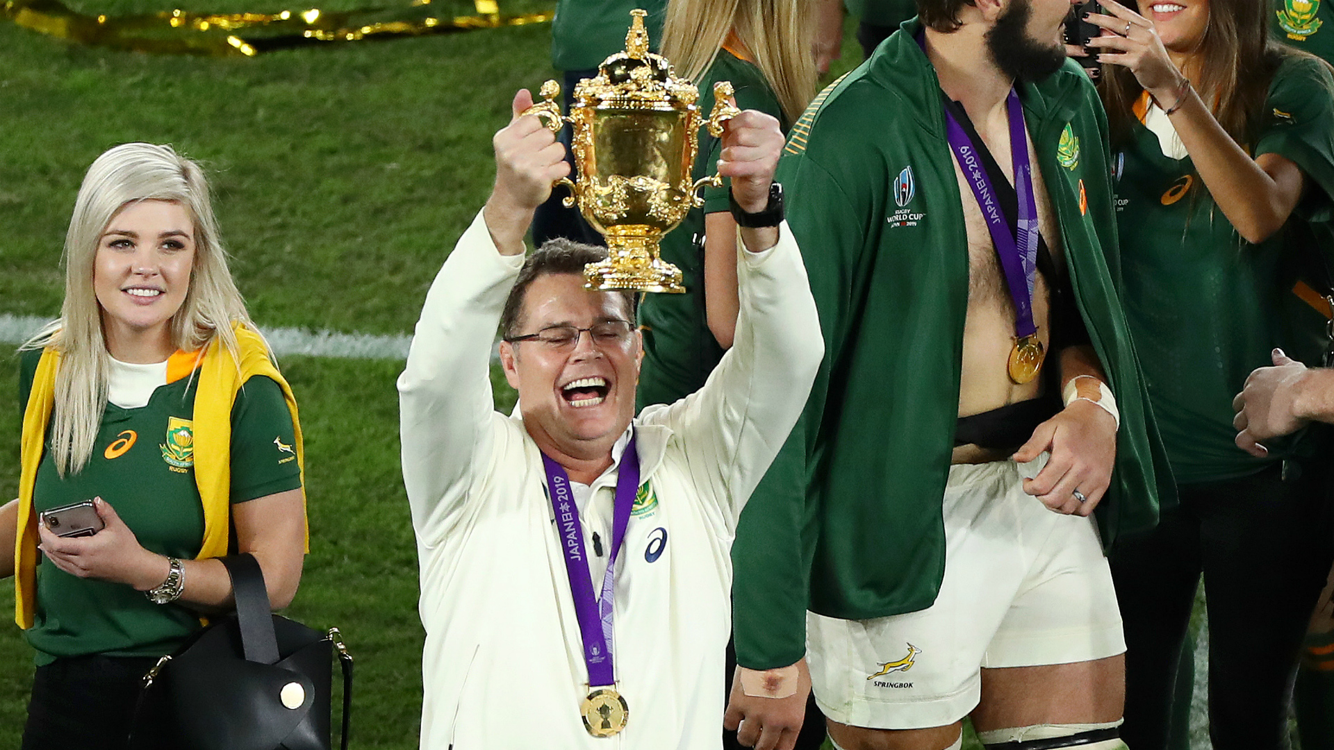 Rugby World Cup 2019: Erasmus 'so proud' after South Africa stun England