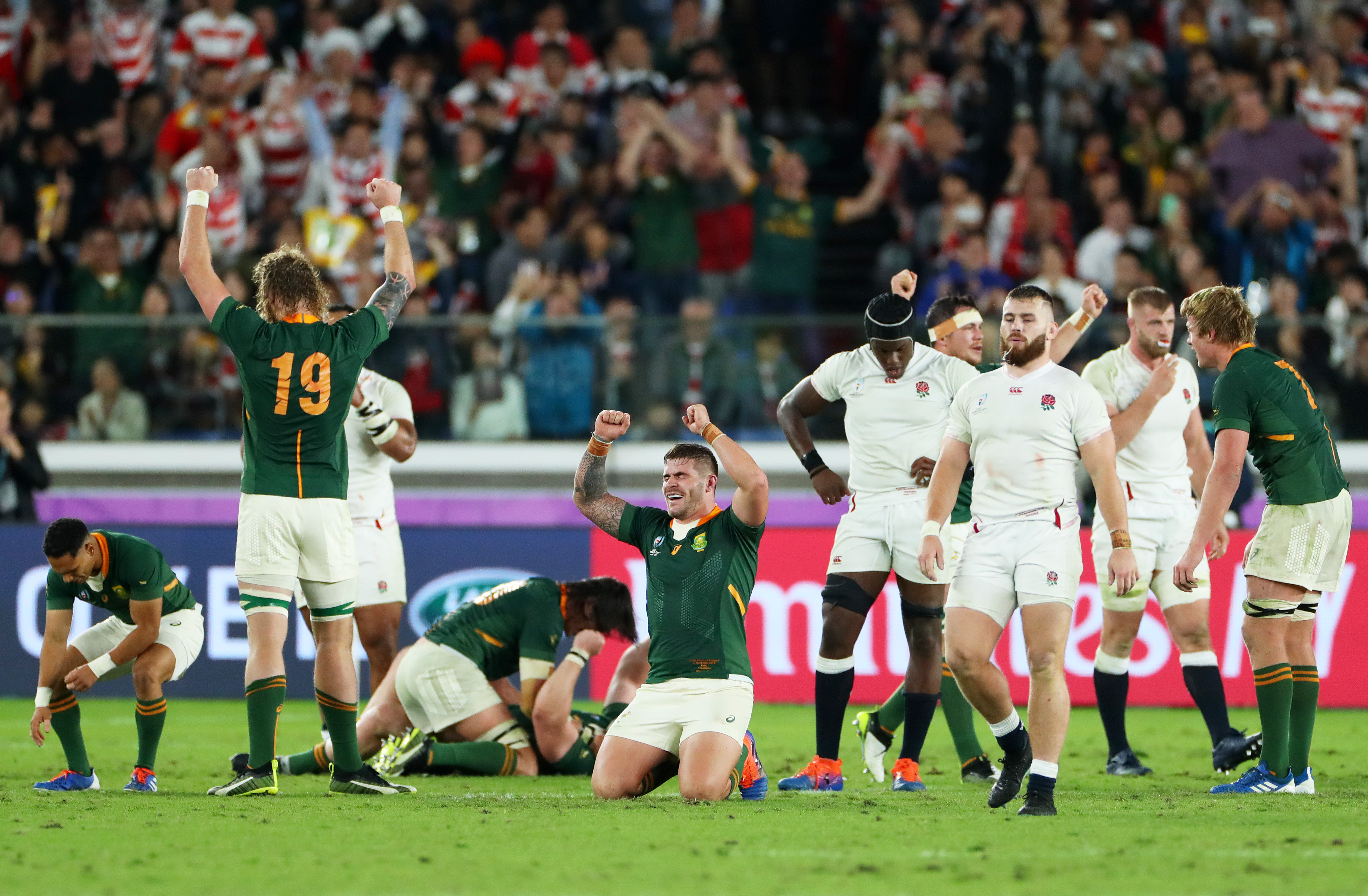 Rugby World Cup 2019 South Africa Make History By Doing The Double Rugby News Stadium Astro