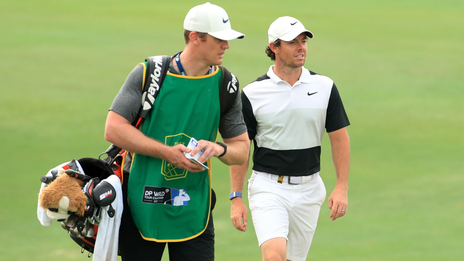 McIlroy unfazed by caddie change as five remain in Race to Dubai running