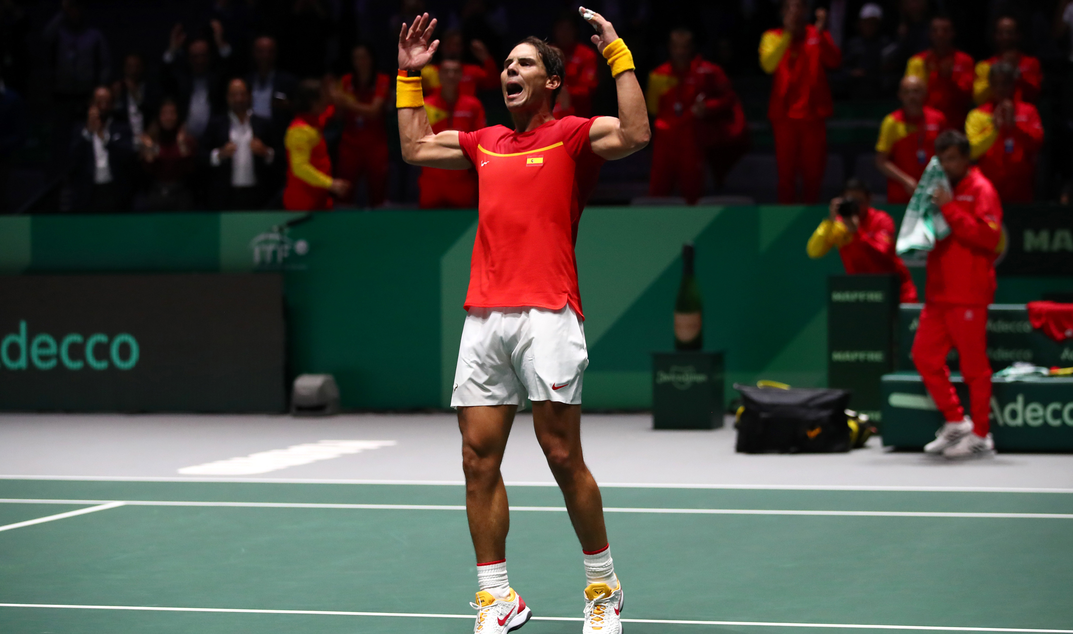Nadal helps Spain past Russia, Canada stun USA