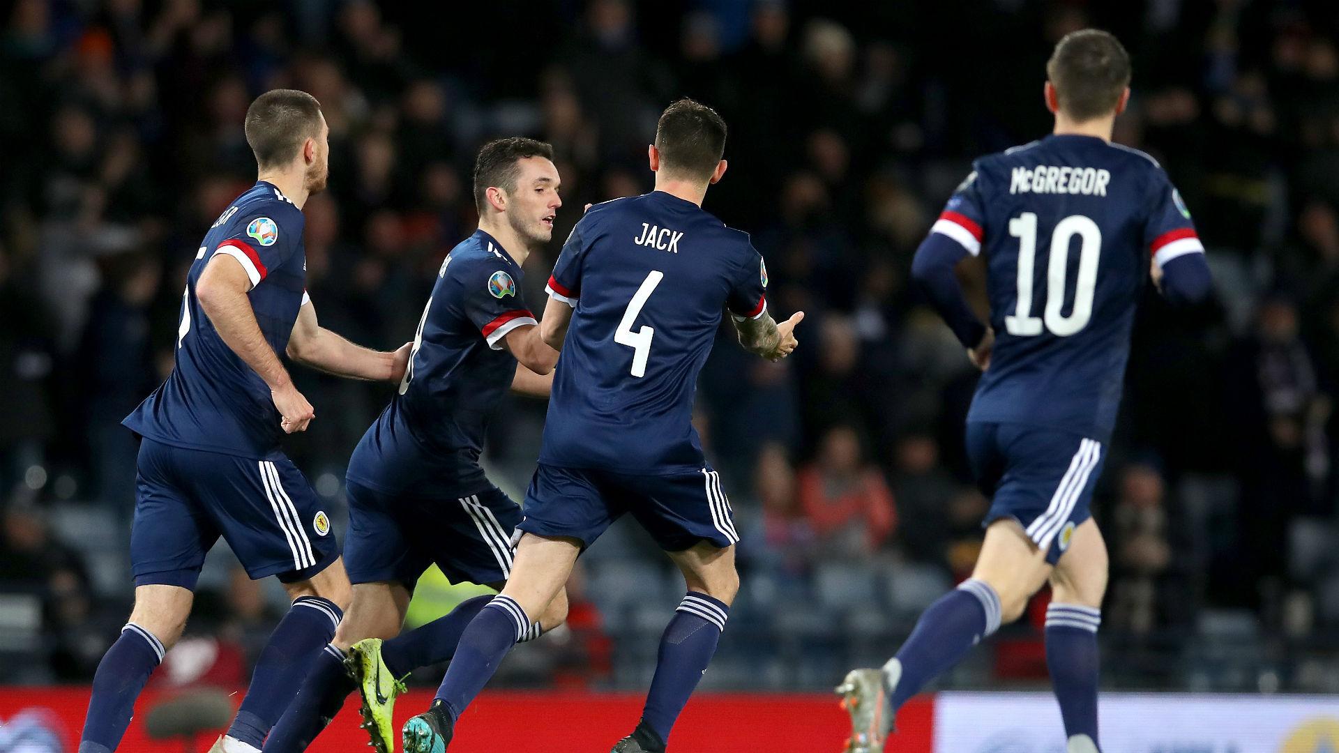 Scotland 3-1 Kazakhstan: McGinn at the double in comeback win