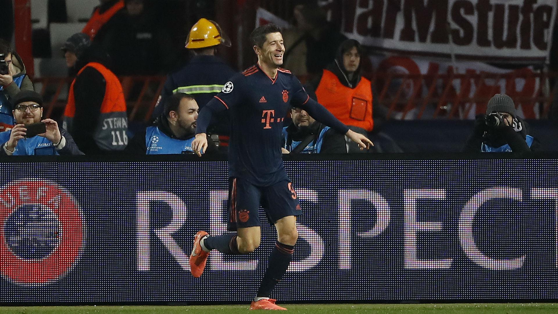 Red Star Belgrade 0-6 Bayern Munich: Sensational four-goal Lewandowski wraps up top spot