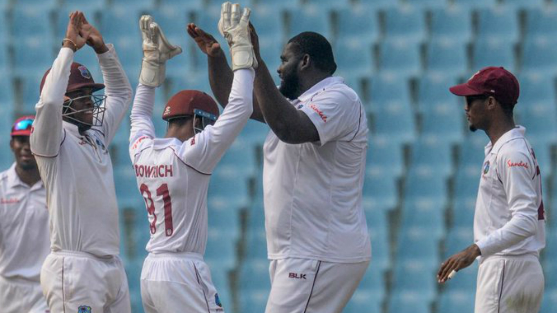 Cornwall takes spectacular seven to give Windies the edge