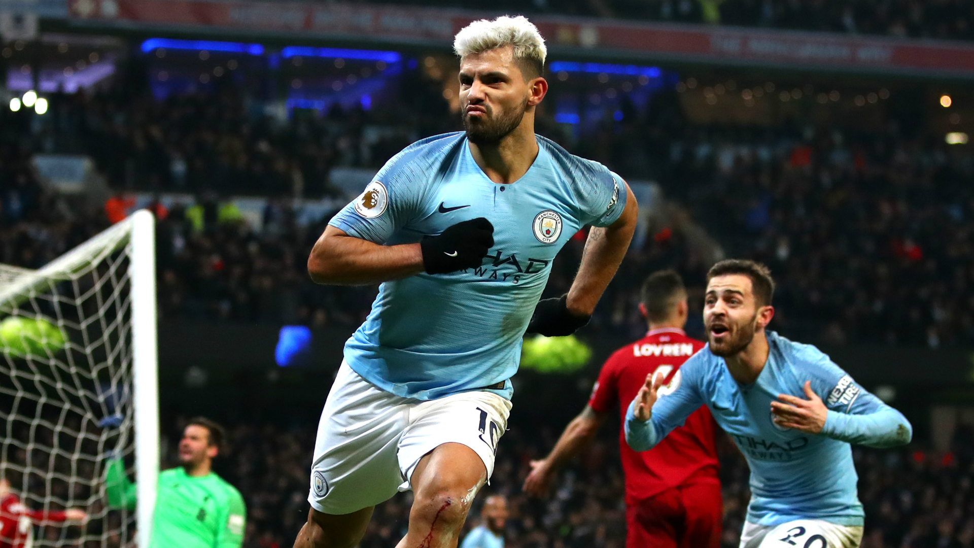 Aguero: 'Very strong' Liverpool the only danger to Manchester City