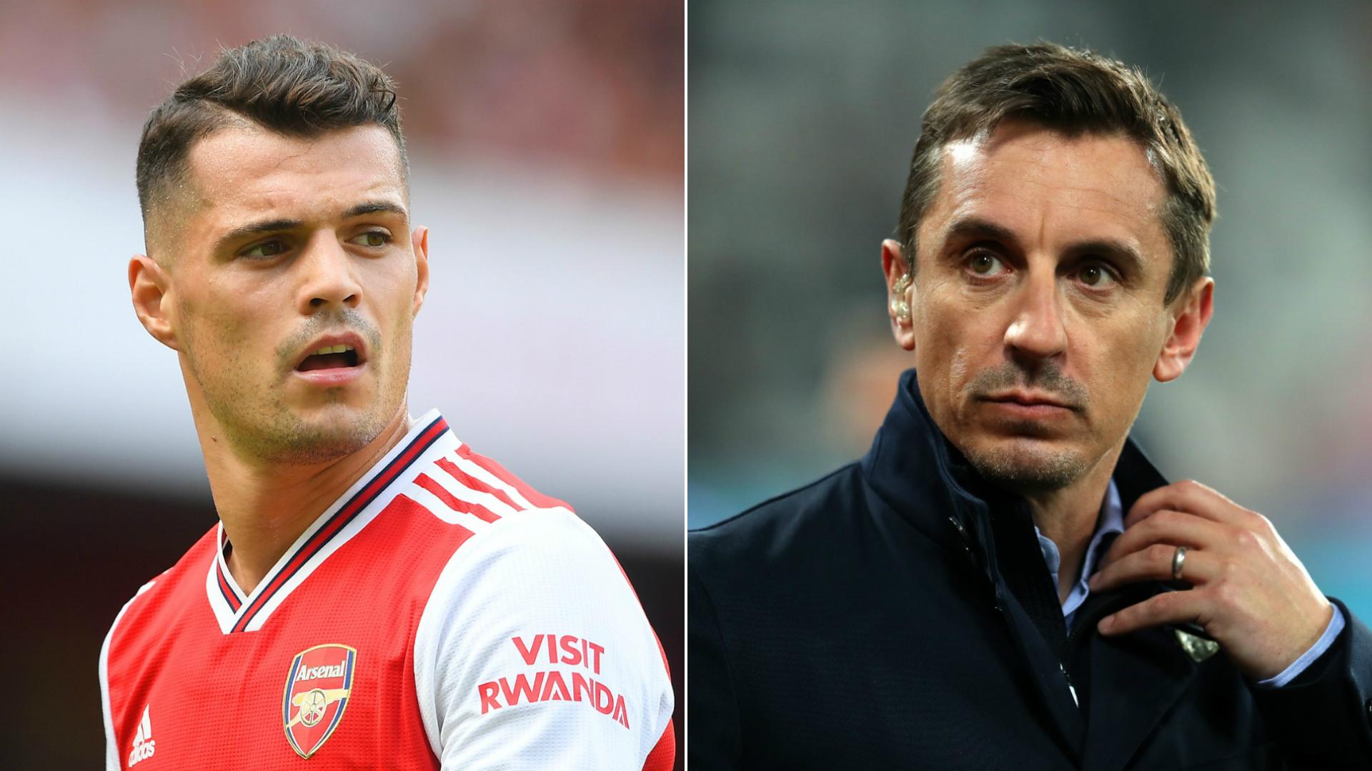 Neville Arsenal Midfielder Xhaka Must Make Peace With Fan