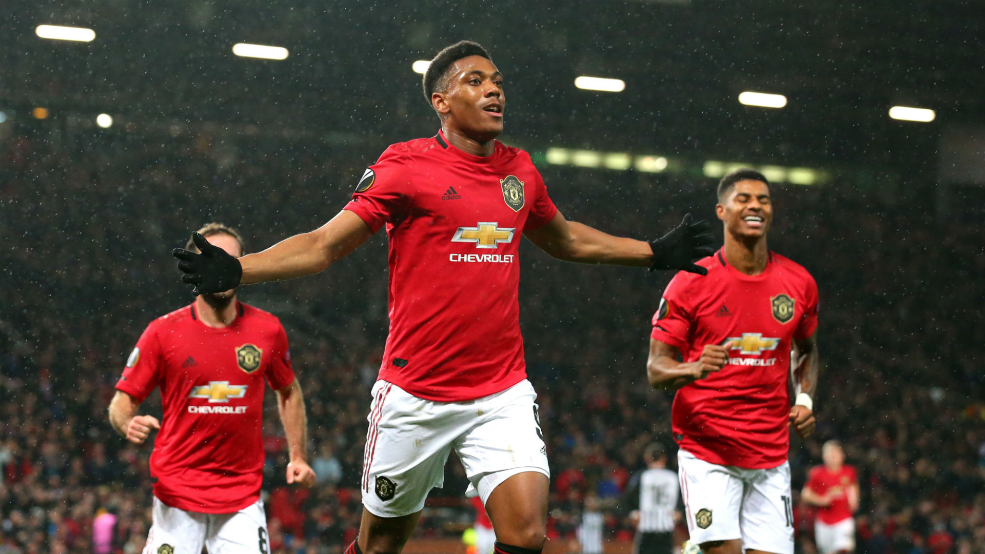 Manchester United 3 0 Partizan Belgrade Martial And