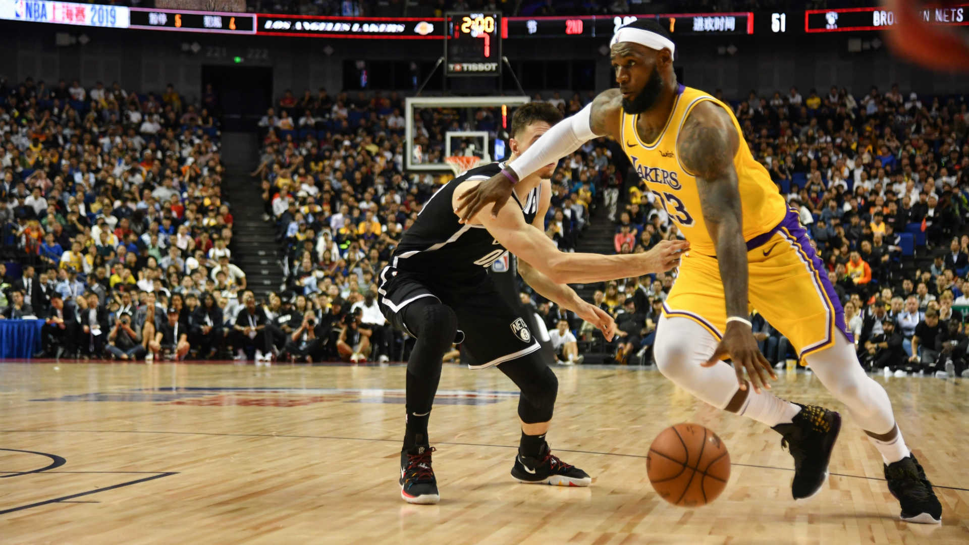 Kyrie Irving injured a minute into Nets debut as China game goes ahead
