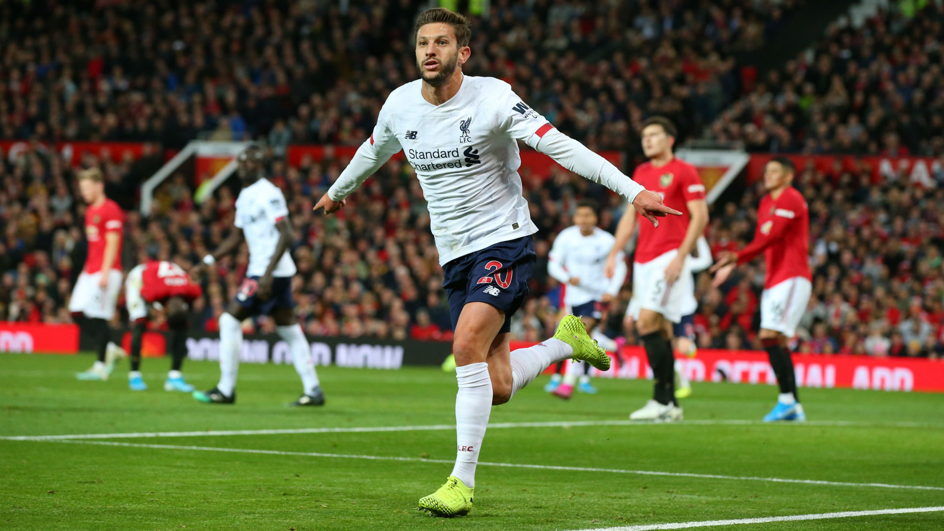 Manchester United 1-1 Liverpool: Lallana rescues point but Reds' winning streak comes to an end
