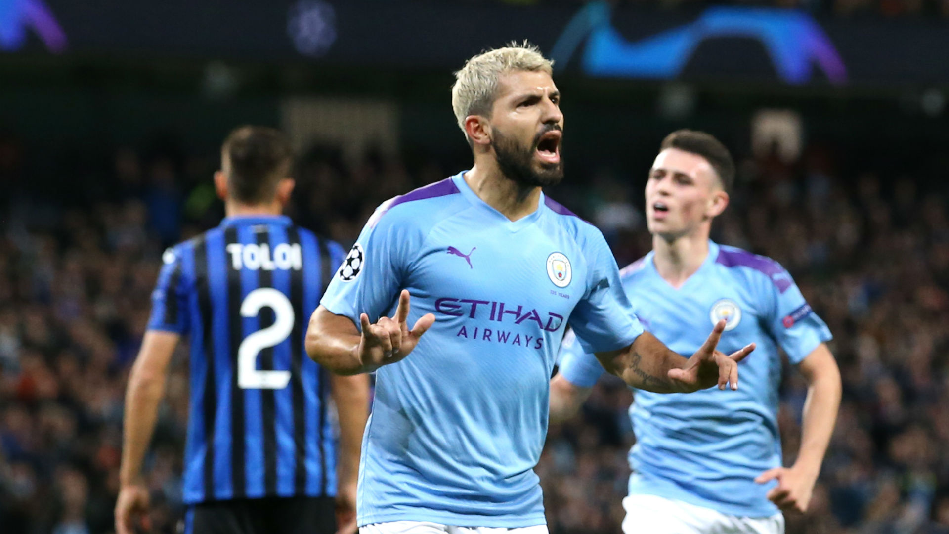 Manchester City 5-1 Atalanta: Sensational Sterling nets a hat-trick before Foden sees red