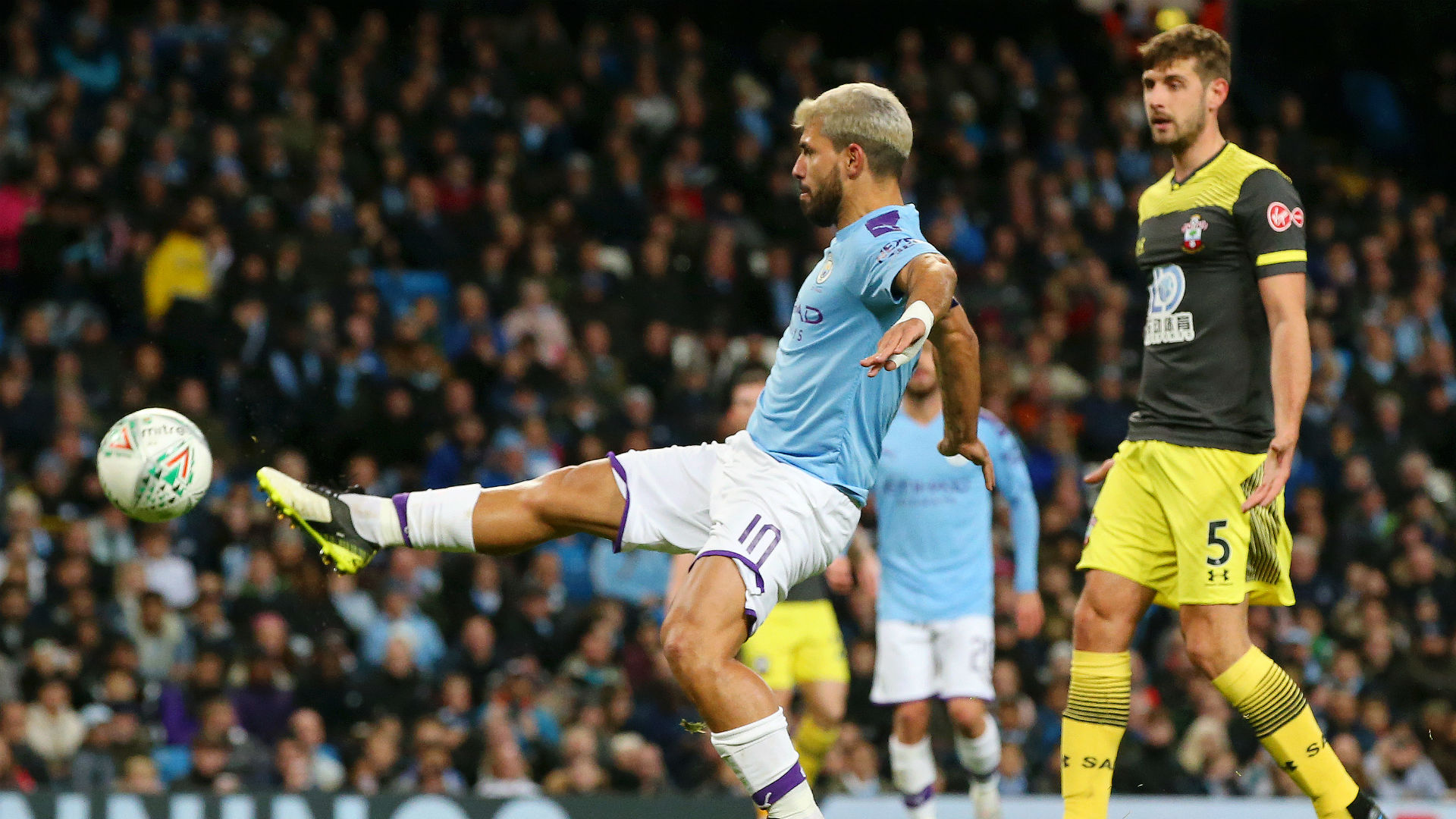 Manchester City 3-1 Southampton: Aguero double helps EFL Cup holders ease through