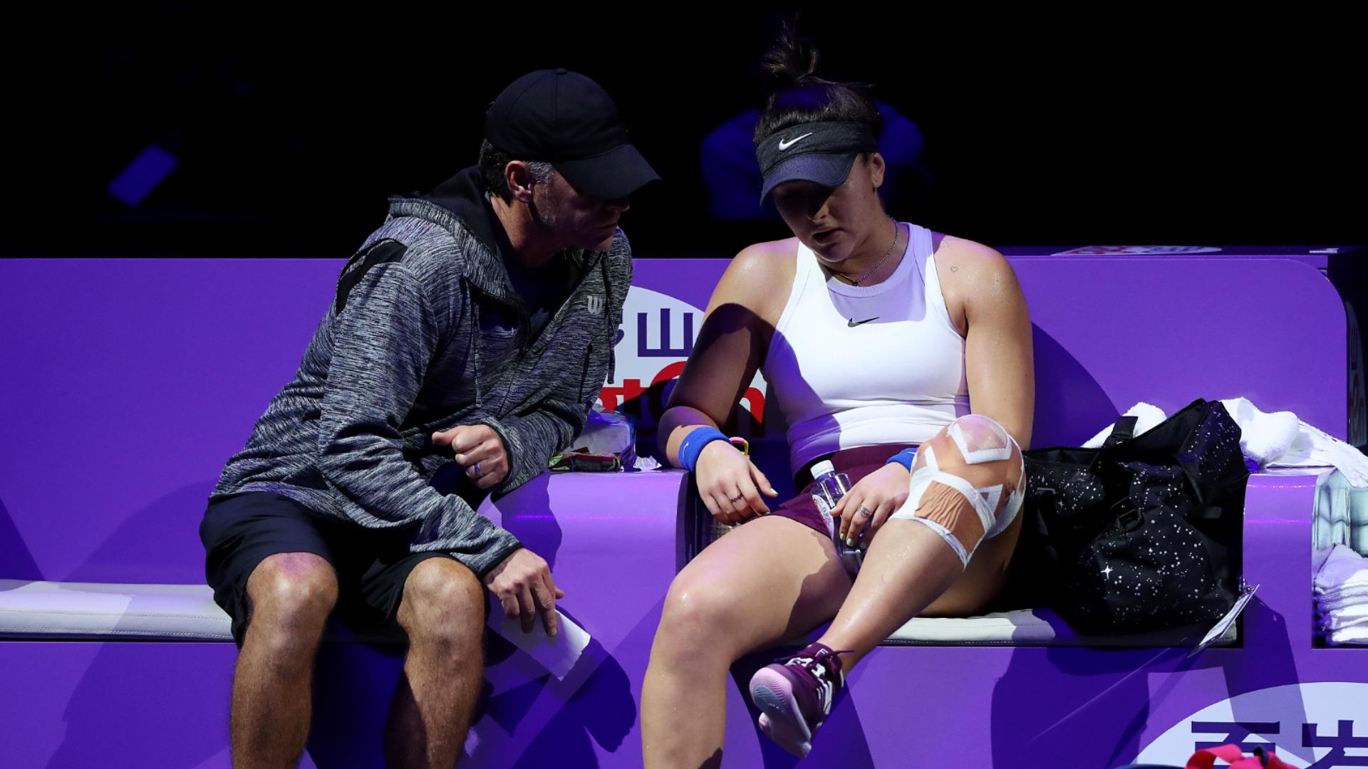 Andreescu retires to exit WTA Finals, defending champion Svitolina reaches semis