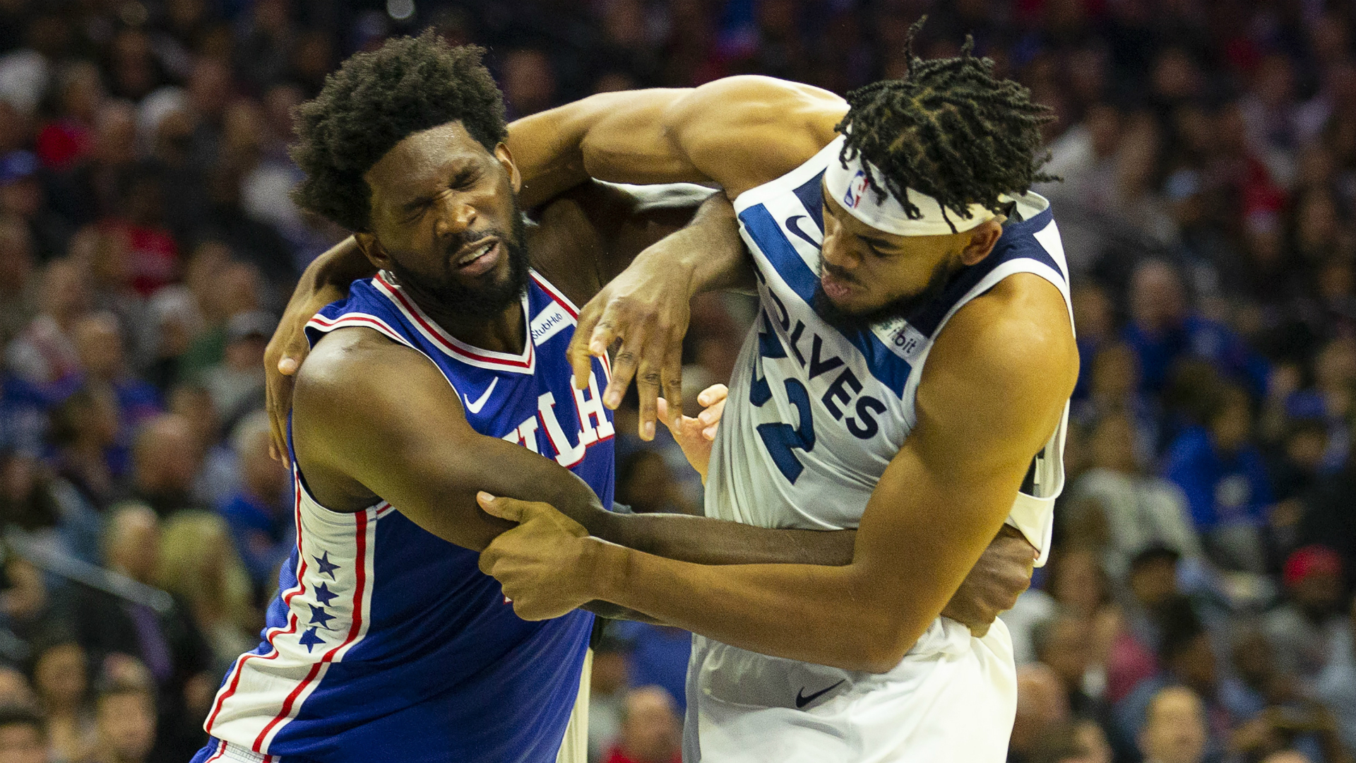 Timberwolves' Karl-Anthony Towns & 76ers star Joel Embiid ejected after brawl