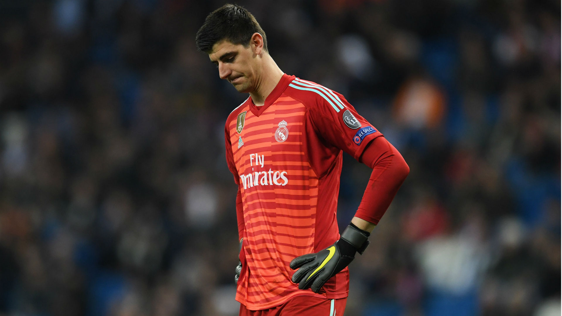 Courtois left out of Real Madrid squad following Champions League substitution