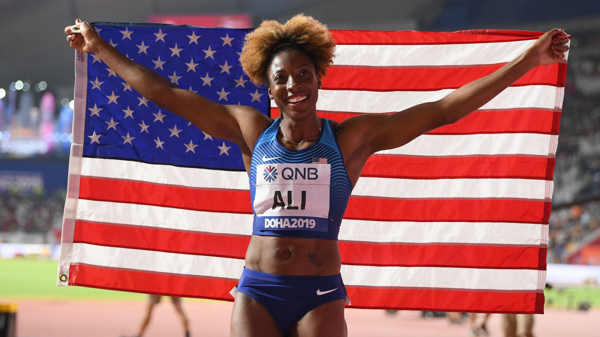 World Athletics Championships: Ali wins hurdles gold as USA finish on a high note